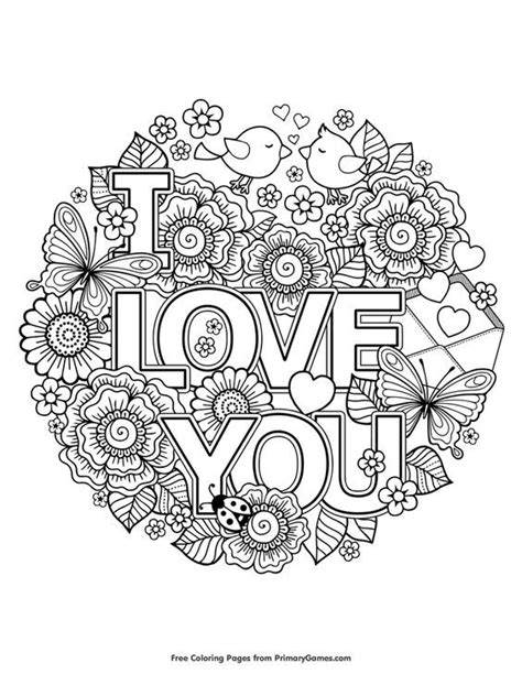 printable coloring pages for adults love valentine s day coloring pages ebook i love you free