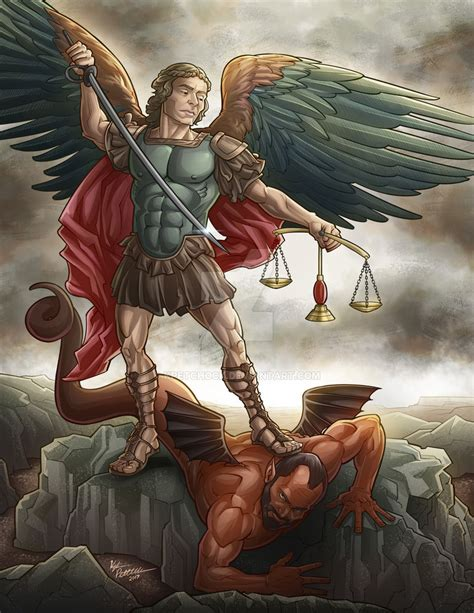 The Archangel Michael my take on the classic archangel michael painting by