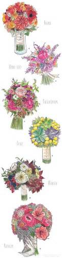 a florist is advertising five types of bouquets bridal bouquet styles bridal bouquets wedding and flowers