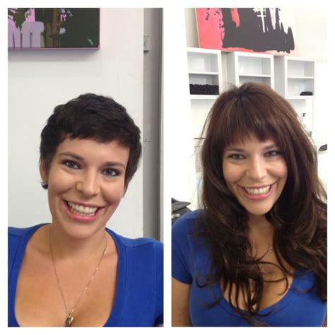 before and after clip on extensions short hair pinterest the world s catalog of ideas