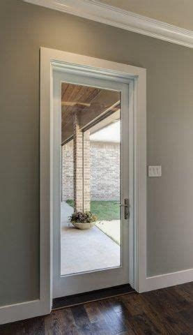Single Patio Door Single White Fiberglass Patio Door With Large Glass View Clean Trim Frame The Entrance