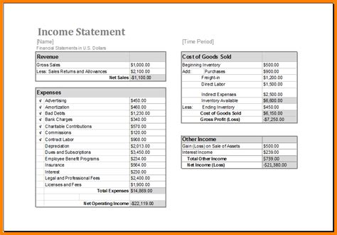 income statement excel template 7 income statement excel template budget template