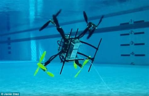 Drone Underwater us navy s transformer flying drone that s also a submarine daily mail