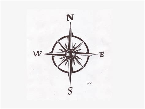 simplistic tattoo designs simple compass on compass