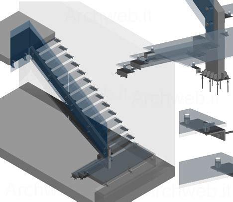 scale per interni dwg scale 3d in acciaio e vetro