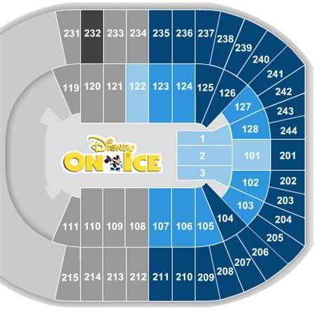 Cape Town Stadium Floor Plan by Ppl Center Seating Chart Disney On Ice Disney On Ice Let