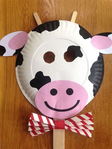 paper plate cow craft best 25 paper plate masks ideas on paper