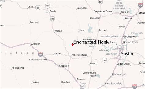 map rock texas enchanted rock mountain information