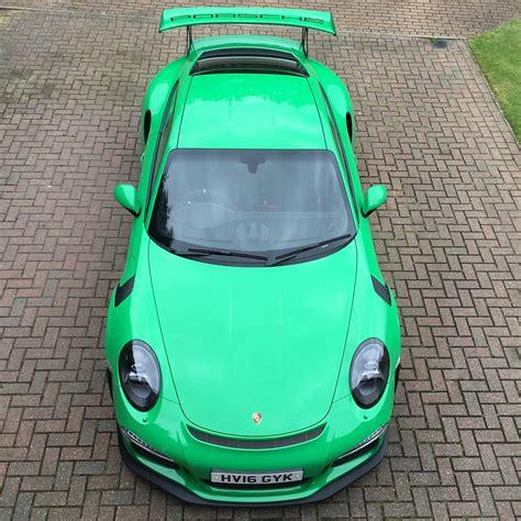 porsche gt3 green 2016 rs green porsche 911 gt3 rs for sale at 321 000 in
