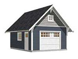 16 x 24 garage plans amazon com garage plans 1 car craftsman style garage