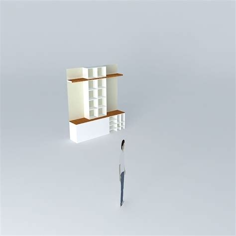 bookcase bookshelf free 3d model max obj 3ds fbx stl