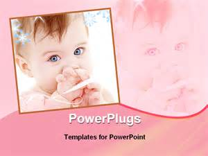 image of a pretty baby powerpoint template background of