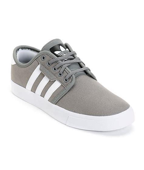adidas seeley grey canvas shoes zumiez
