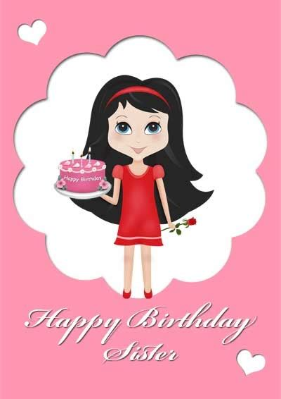 printable birthday cards for sister 28 best printable birthday cards for family images on