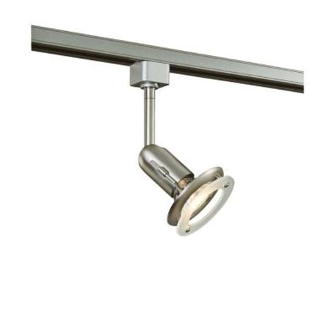 Hton Bay Lighting Fixtures Catalog Hton Bay 1 Light Brushed Steel Linear Track Lighting Fixture Ec2300ba The Home Depot