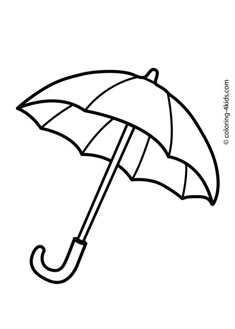 coloring book page template umbrella coloring pages for kids printable drawing