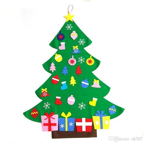 felt shingle tree diy christmas decorations kids will new hot sale kids diy felt christmas tree set with