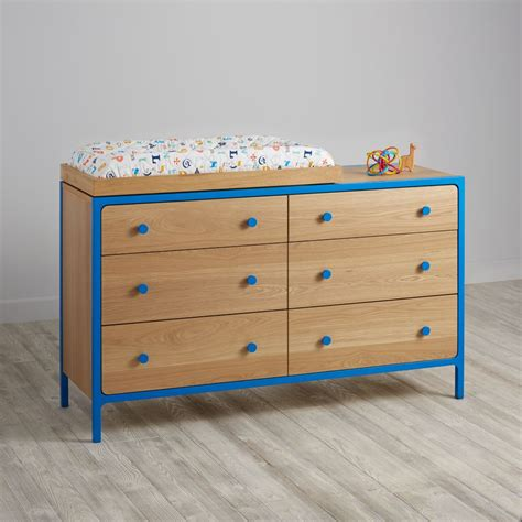Blue Changing Table Baby Changing Tables Changing Stations The Land Of Nod