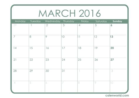 printable planner for march 2016 march 2016 calendar printable calendars
