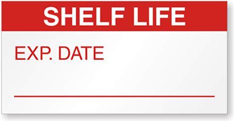 Shelf Lives by Mini Labels Qc Labels