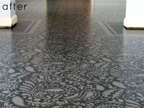 before & after: painted pattern floor ? Design*Sponge