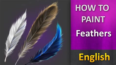 how to paint a how to paint in photoshop feathers youtube