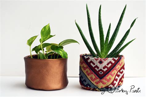 Pretty Quirky Pants   DIY Fabric Pots