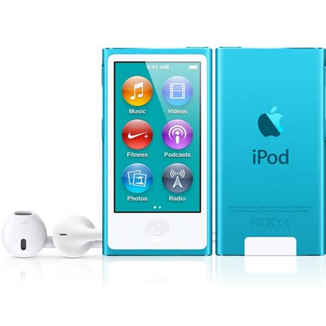 Ipod Nano 7th refurbished ipod nano 16gb blue 7th generation apple