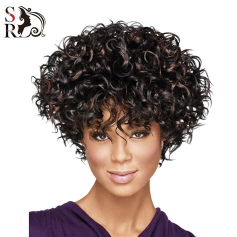 bang hair pieces for african americans 1pc short wigs for black women natural wig curly synthetic