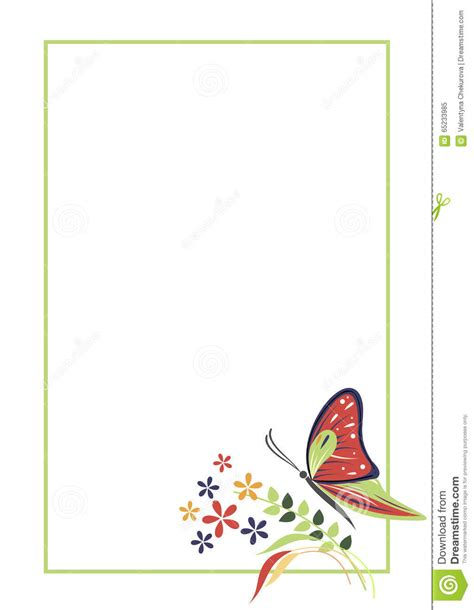printable a4 greeting cards vector blank for letter or greeting card form with frame