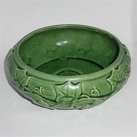 Shawnee Planter by Shawnee Pottery Embossed Bulb Planter Vase From