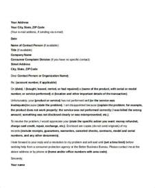 Complaint Letter With Sle Formal Complaint Letter Formal Letter Sle Template 70