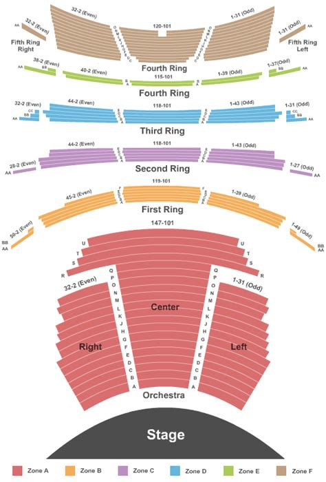nycb theater seating map new york city ballet david h koch theater tickets new