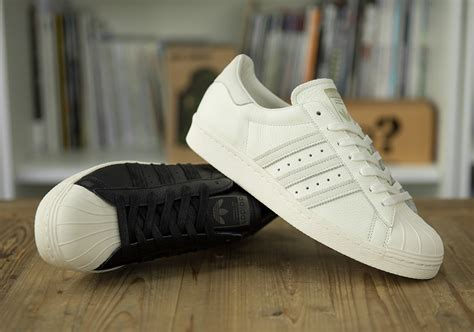 Adidas Superstar Premium adidas superstar 80s size exclusive black white leather sneakernews