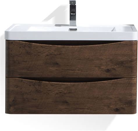 24 Bathroom Vanity With Drawers Smile 24 Quot Rosewood Wall Mounted Modern Bathroom Vanity W 2 Drawers Modern Bathroom Vanities