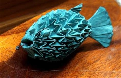 Origami Puffer Fish - cool origami creations pix o plenty