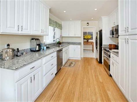 Flooring : Bamboo Flooring In White Kitchen About Bamboo