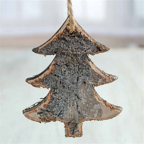 rustic birch tree ornaments christmas and holiday primitive decor