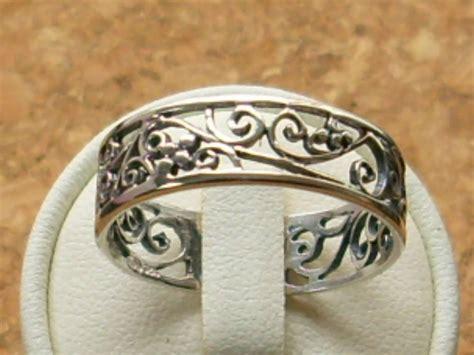 genuine 925 sterling silver thumb finger filigree