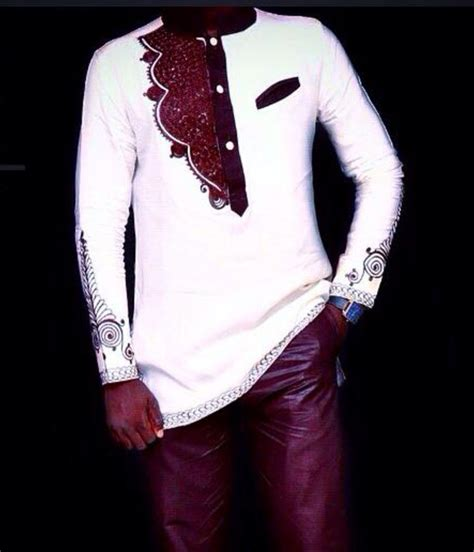 mens clothing on pinterest 1322 pins brown white african mens wear african clothing by
