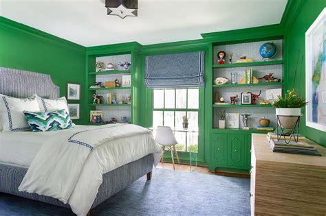 blue bedroom  green accents design ideas