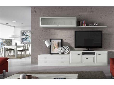 mueble de sal 243 n modular blanco - Muebles Salon Modernos Blanco