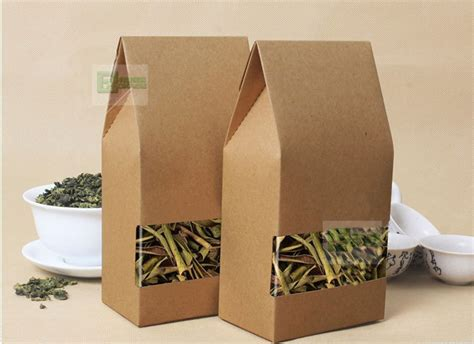 Paper Look With Tea Bags - no printing kraft paper bag square bottom kraft paper bag