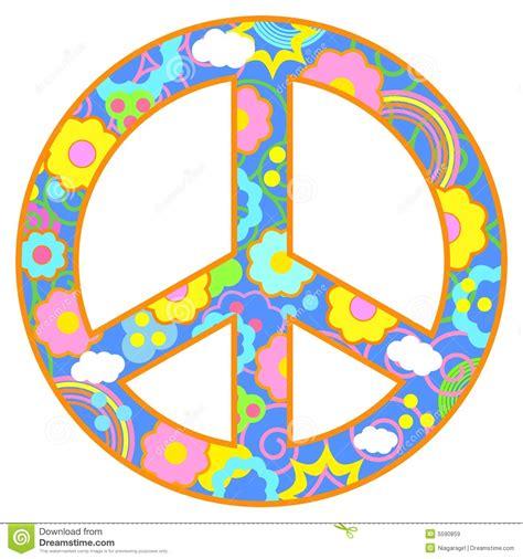 imagenes simbolos paz tema feliz del s 237 mbolo de paz ilustraci 243 n del vector