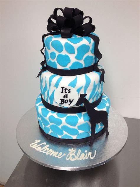 Blue Safari Baby Shower Cake by Blue Safari Cake Www Pixshark Images Galleries