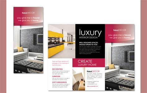 interior decoration brochure templates word psd