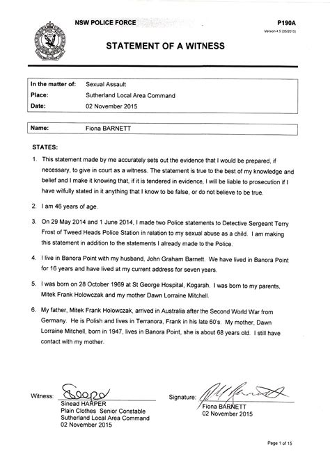 sle of witness statement cancel account letter template prospecting made easy