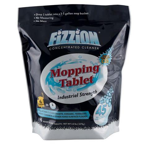 drop in mop fizzion 5 gal tablet drop and mop floor cleaner 45 count