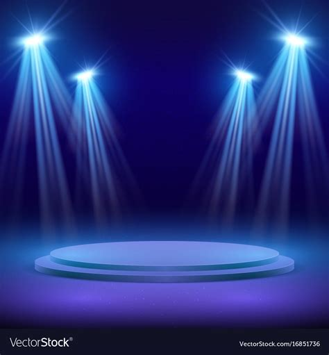 scow images concert stage with spot light lighting show vector image