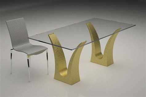 Contemporary Glass Top Dining Tables Modern Glass Top Coffee And Dining Tables With Colored Bases Digsdigs